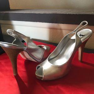 Sheikh dazzling silver sling back high heels